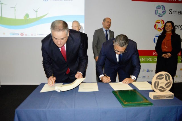 the Ministry of Energy, Mines, Water and Environment, Abderrahim El Hafidi, and Portugal's Secretary of State, Jorge Seguro Sanches.