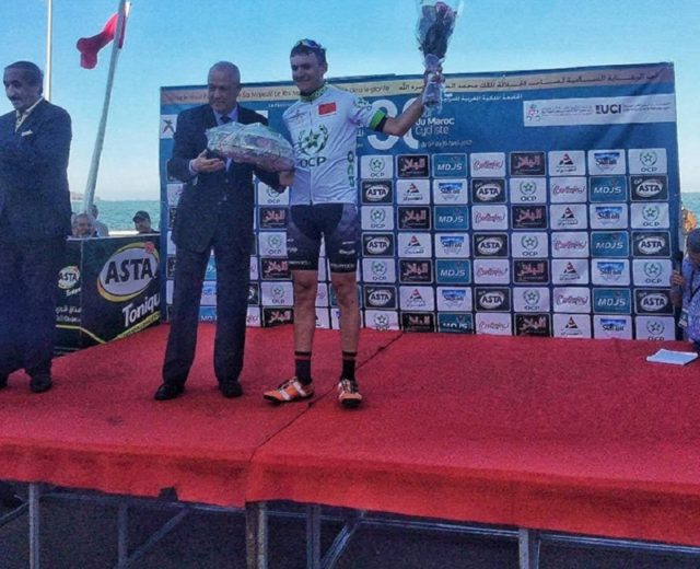 British Hetherington Ben won the fifth stade of Morocco's 30th Cycling Tour