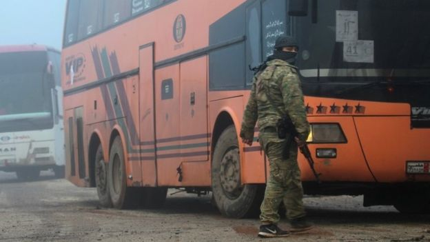 Car Bomb Kills 16 Syrian Bus Evacuees