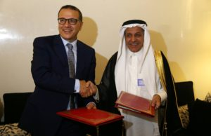 Mohamed Boussaid and IDB chairman, Bandar Mohammad Hamza Hajjar