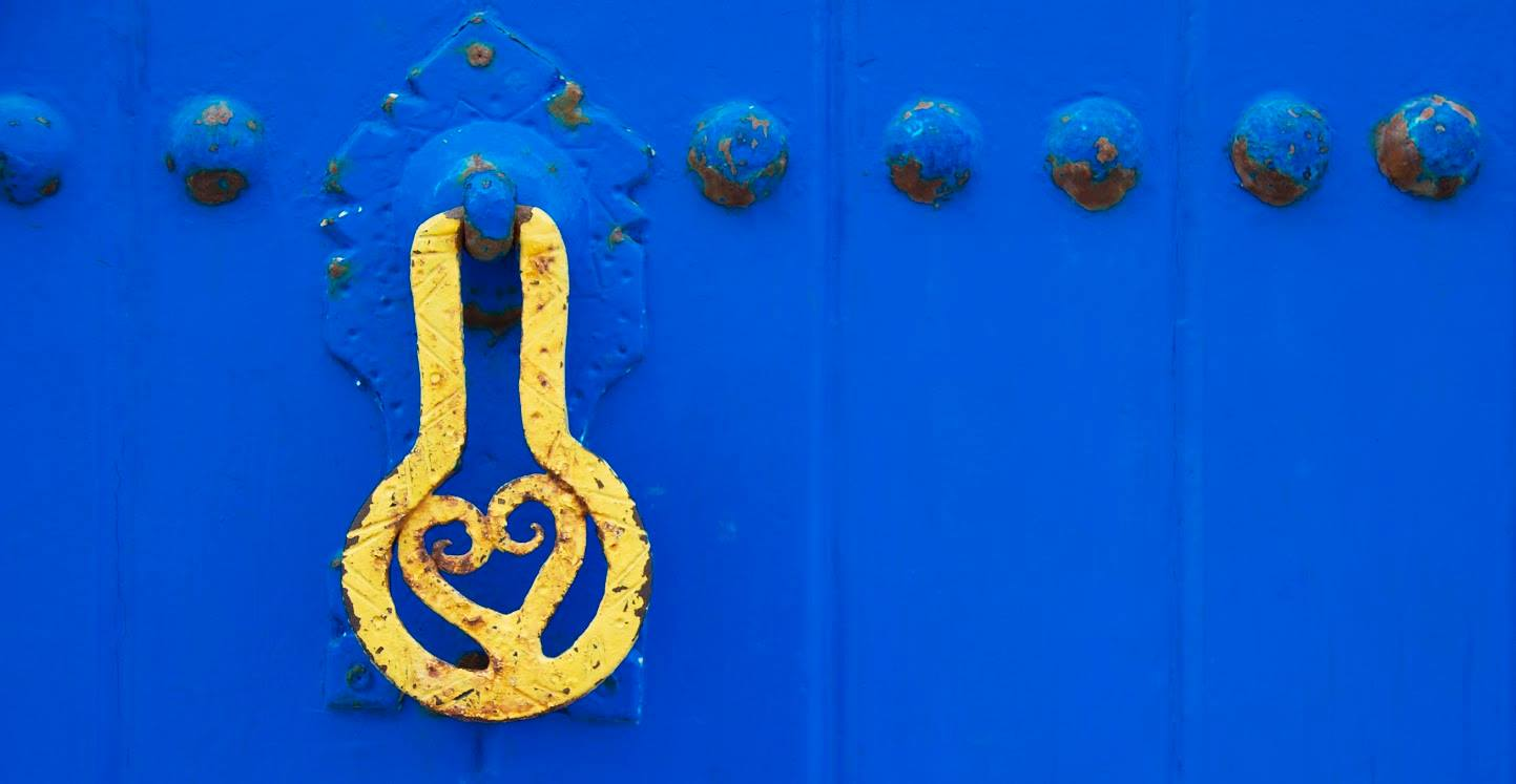 One of many of the doors in Oudaya on April 11, 2017 in Rabat Morocco. Photo by Tyler Brock/ Morocco World News