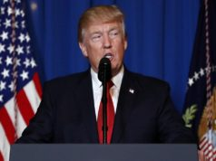 US President Donald Trump Speaks about Missile Strikes in Syria