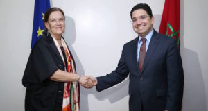 co-chairwoman of the Morocco-EU Joint Parliamentary Committee, Ines Ayala Sender meets Morocco's Foreign Minister Nasser Bourita