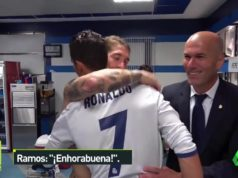 Real Madrid Celebrates Ronaldo's Hat-trick in Dressing Room