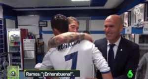Real Madrid Celebrates Ronaldo's Hat-trick in Dressing Room
