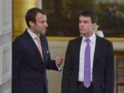 Emmanuel Macron and Manuel Valls
