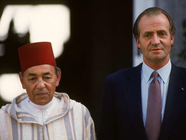Hassan II and Juan Carlos Morocco Spain