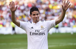 International Football Teams Compete Over Real Madrid's James Rodriguez