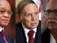 Jacob Zuma President of South Africa, Abdelaziz Bouteflika the president of Algeria and Brahim Ghali head of Polisario Mlitia