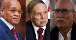 Jacob Zuma President of South Africa, Abdelaziz Bouteflika the president of Algeria and Brahim Ghali head of Polisario Mlitia