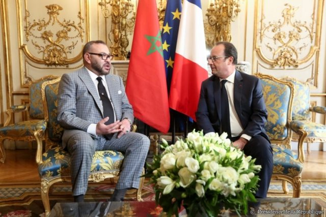 King Mohammed VI, François Hollande Exchange Vows of Support at Élysée Luncheon