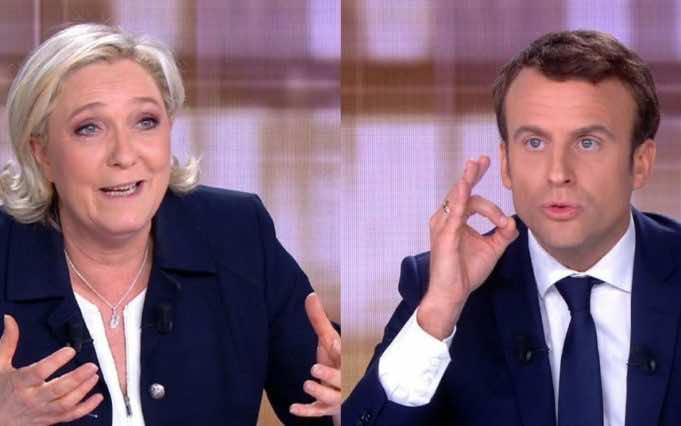 Marine Le Pen and Emmanuel Macron in final French presidential debate