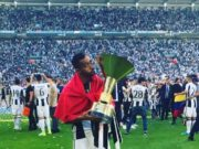 Mehdi Benatia Carries Moroccan Flag During Juventus Celebration of Calcio Title