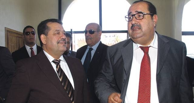 Moroccan opposition leaders, Hamid Chabat and Driss Lechger