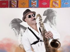 "Moroccan saxophonist Abdel Mabrouk's latest album, ""Ahwach Jazz"""