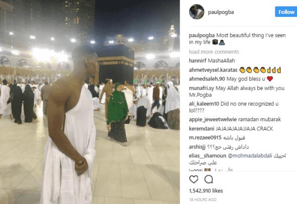 Paul Pogba Visits Mecca