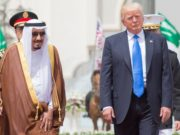 Saudi Arabia's King Salman bin Abdulaziz Al Saud and U.S. President Donald Trump
