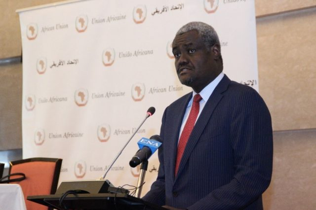 The President of the AU Commission, Moussa Faki Mahamat