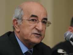 The new Algerian Prime Minister Abdelmajid Tebboune