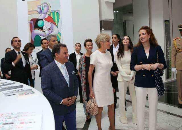 Princess Lalla Salma Shows Brigitte Macron Picasso Exhibition