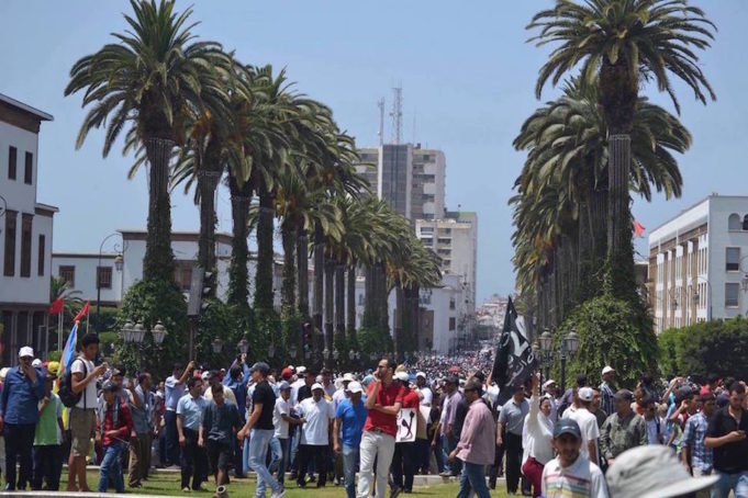Amid Growing Tension, Thousands of Moroccans Stage Pro-Rif March in Rabat