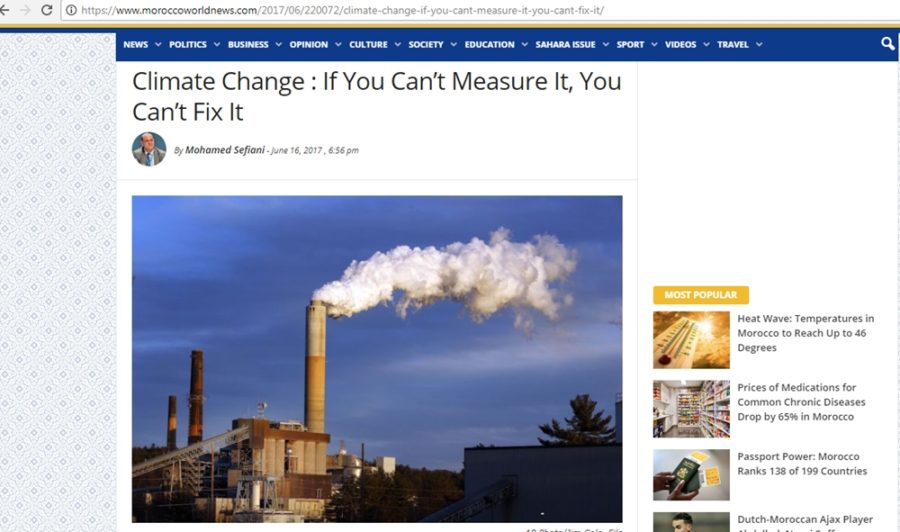 Climate Change If You Can't Measure It, You Can't Fix It
