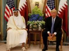 Emir of Qatar, Tamim bin Hamad al-Thani and Us president, Donald Trump