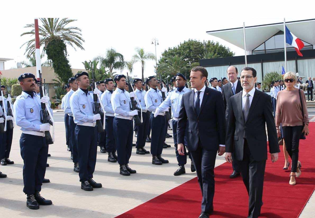 Emmanuel Macron Morocco King Mohammed VI
