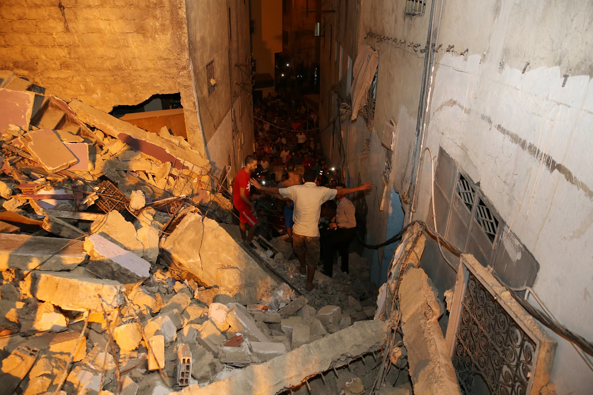 Two Apartment Blocks Collapse in Fez