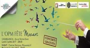 Free Mozart Concert In Rabat July 3, Casablanca July 5