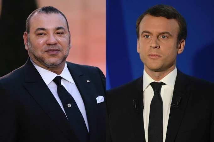 French president Emmanuel Macron King Mohammed VI Morocco France