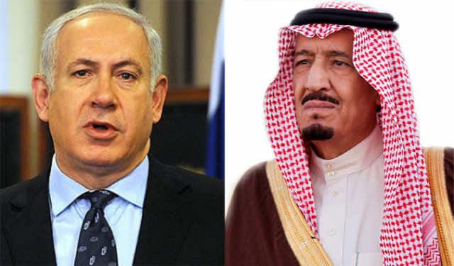 Israeli Prime Minister Benjamin Netanyahu and Saudi Arabia's King Salman bin Abdulaziz