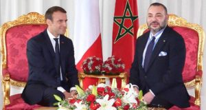 King Mohammed VI and French President Emmanuel Macron