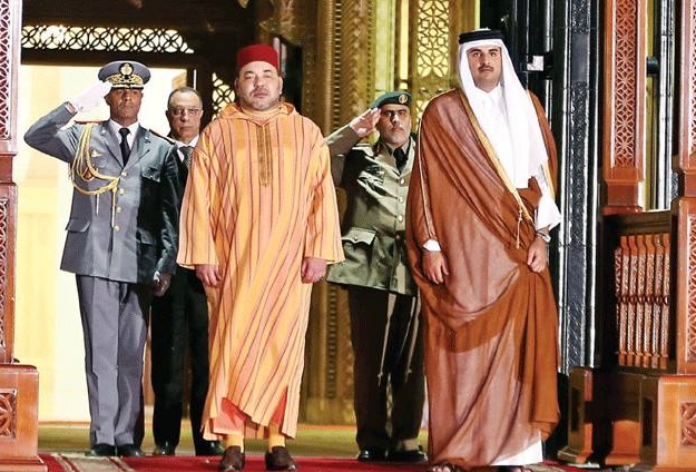 King Mohammed VI and Sheikh Tamim bin Hamad Al Thani