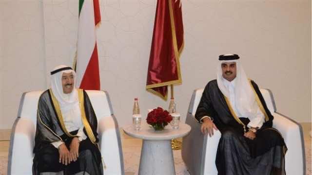 Kwaiti Emir Sheikh Sabah al-Ahmad Al Sabah and Qatari Emir Tamim Bin Hamad al Thani