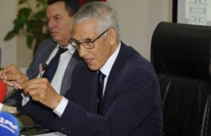 Lahcen Daoudi, the Minister of General Affairs and Governan