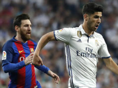 Marco Asensio and Lionel Messi