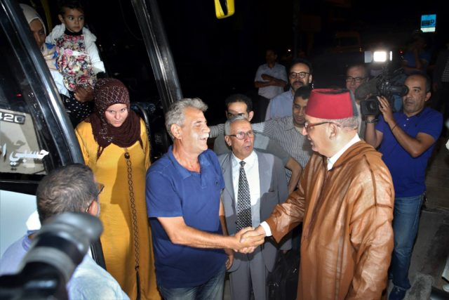 Moroccan Human Rights Council Receives Syrian Families Welcomed from Algerian Border