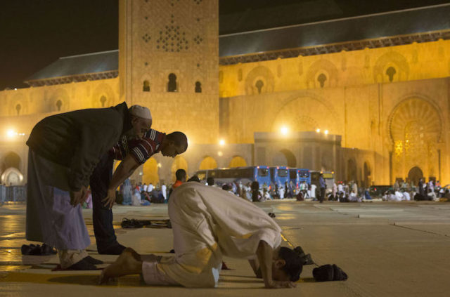 Moroccans spend Laylat al-Qadr, the 26th day of Ramadan, at the Hassan II mosque in Casablanca.