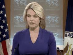 State Department spokesperson, Heather Nauert