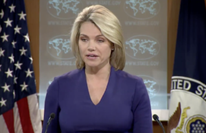 State Department spokesperson, Heather Nauert