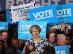 Britain's Prime Minister and leader of the Conservative Party Theresa May surprised the world when she called for a snap election, which could arguably determine the future of the United Kingdom (AFP)