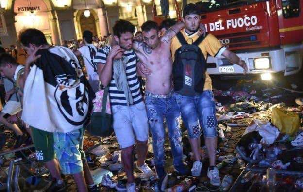 Up To 1500 Injured in Turin Juventus Stampede