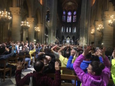 gunshots and panic being reported brought first responders to the famous Notre Dame cathedral in Paris