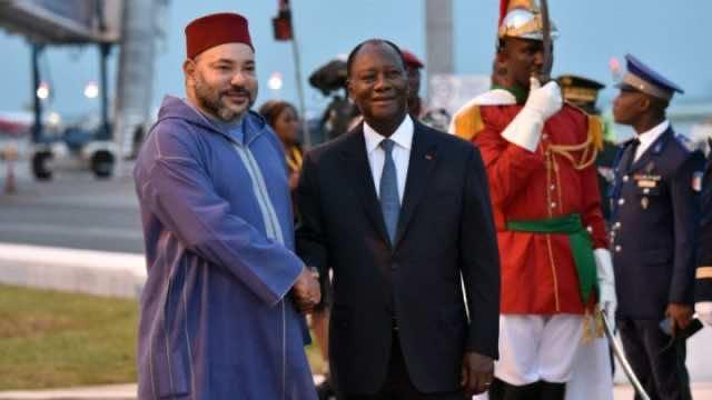 King Mohammed VI and Ivorian President Alassane Ouattara