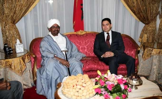 Sudanese President Omar al-Bashir Omar Bachir and Nasser bourita