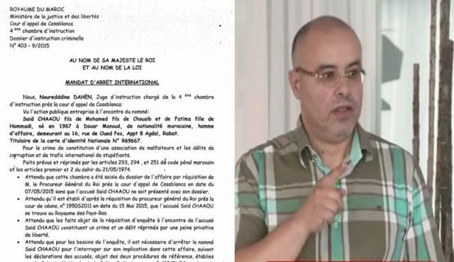 "Chaou Case : Jeune Afrique Reveals ""Extradition Request"" Sent By Morocco to Dutch Authorities"