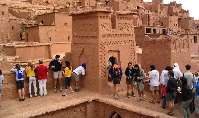 tourists in Morocco