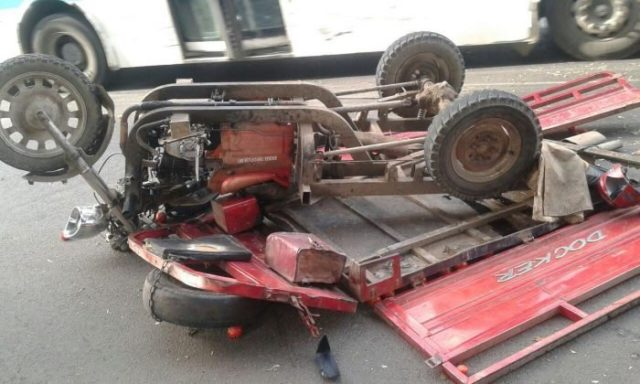 A triporteur accident that killed one and injured 10 in Tangier on July 16