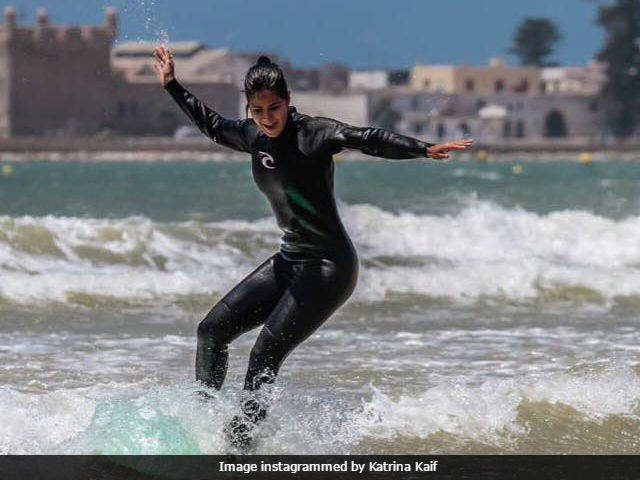 Bollywood Actress Katrina Kaif Learns to Surf in Essaouira
